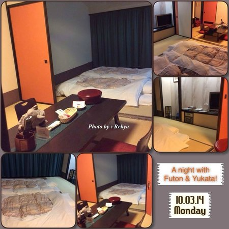 Hotel Green Plaza Hakone : Comfy room & warm futon throughout the night.