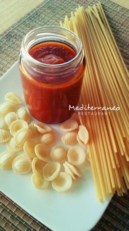Mediterraneo Spanish & Italian Restaurant : Our homemade tomato sauce for our pasta. So fresh & tasty!