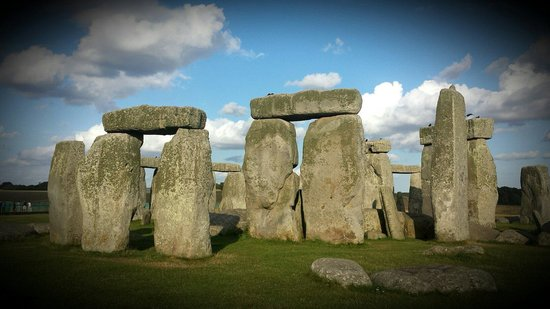 Stonehenge: The stones on a summer's evening in August.