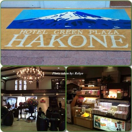 Hotel Green Plaza Hakone: This is the hotel lobby & the omiyage shop!