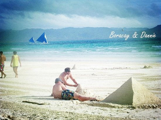 White Beach: white sand beach- those cute couples