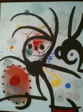 Pilar and Joan Miro Foundation in Mallorca: Una de las obras