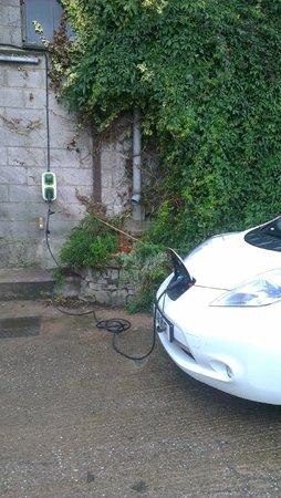 Beechenhill Farm: convenient charging point in the farmyard!