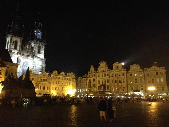 Old Town Square: night scene