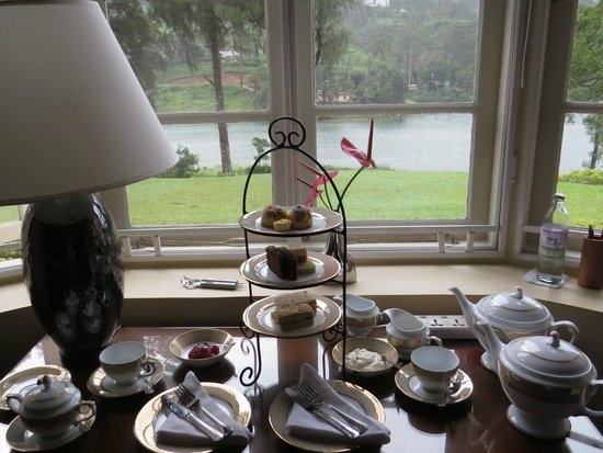 Ceylon Tea Trails (Aug 2013): Afternoon high tea in Tate Room, Castlereagh Bungalow