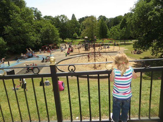 Roath Park: Looking down at the playground