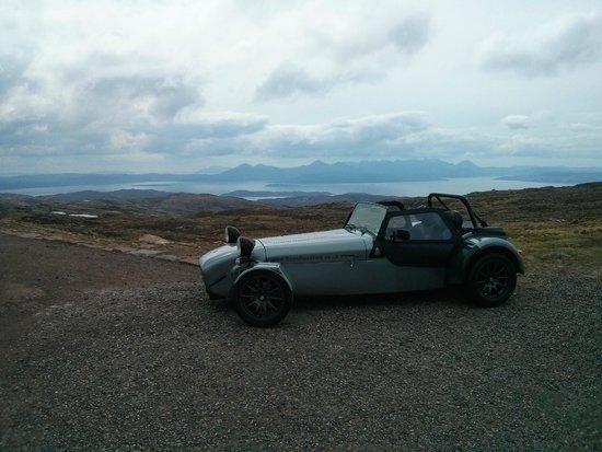 Highland Caterham Hire: A quick snap above Applecross!