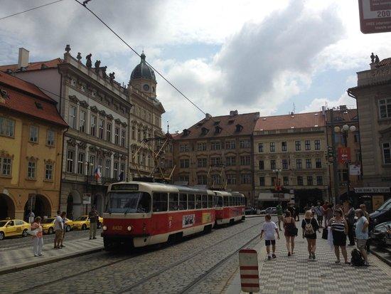 Mala strana: old style tram