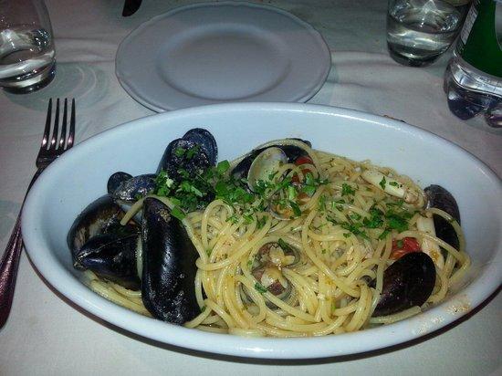 Trattoria Rusticana da Lisetta : Spaghetti alla marinara. Buonissimi
