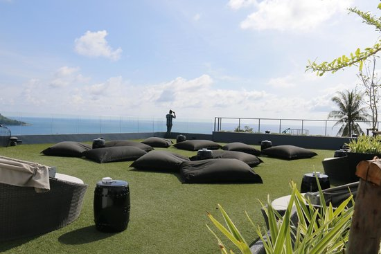 Foto Hotel : Rooftop lounge area