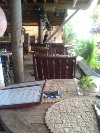 The Waterline Restaurant & Beach Bar : Our table