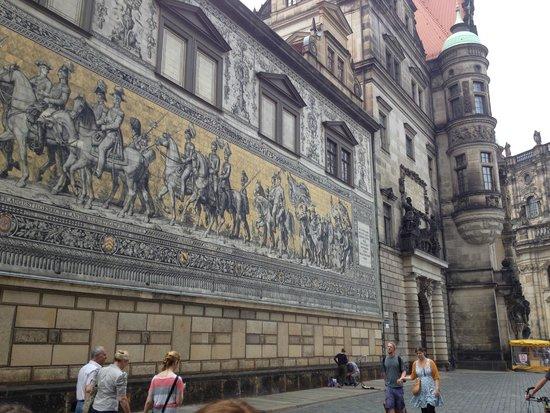 Fürstenzug: the procession