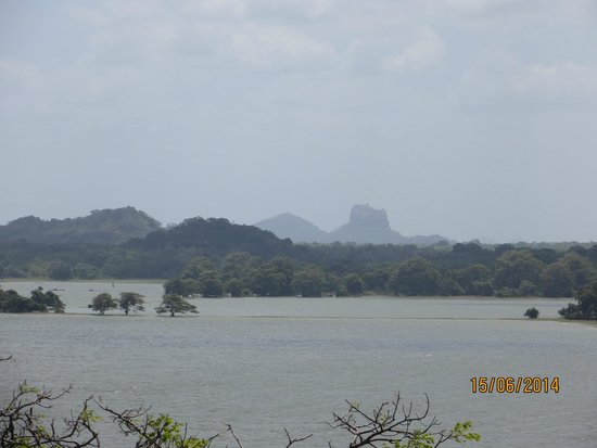 Heritance Kandalama: View of Sigiriya Rock from Pool Site