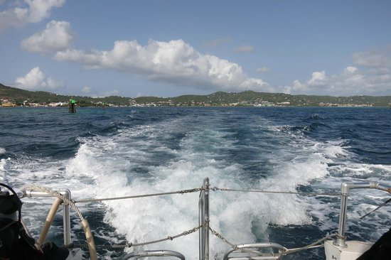 St. Croix Ultimate  Bluewater Adventures (SCUBA), Inc. : Heading to a dive site