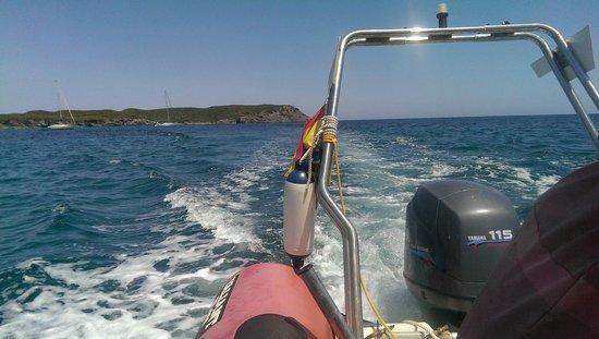Es Grau: Illa d'en Colom - Sul gommone