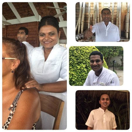 LUX* South Ari Atoll : Our favorite restaurant staff, who didn't stop before making neck massage ;) thanks Ziyada, serv