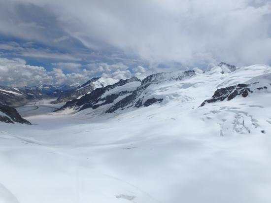 Jungfraujoch: view from Sphinx