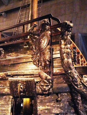 Vasa-Museum: un particolare delle decorazioni