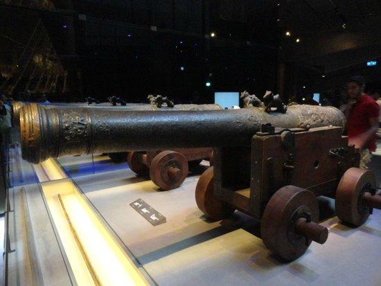Vasa-Museum: alcuni cannoni