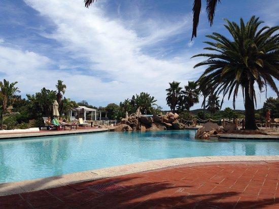 Hotel Le Palme: Vista dalla sdraio piscina