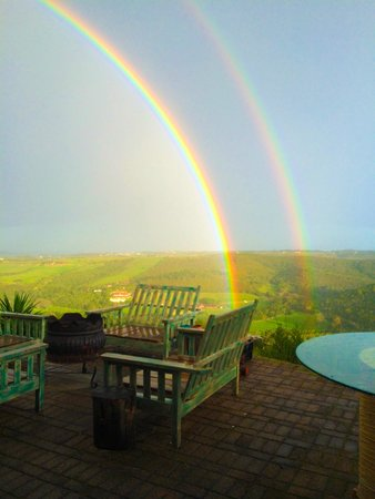 African Array Lodge: Double rainbow view from one of the decks