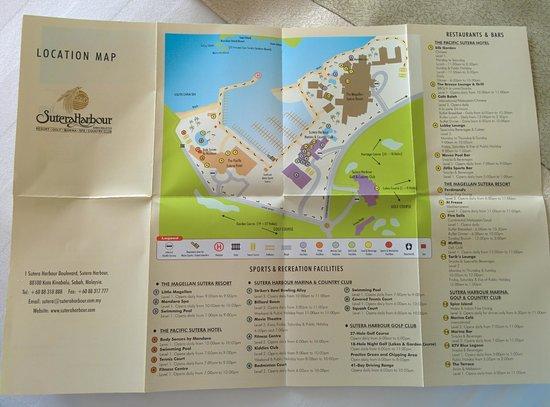 Sutera Harbour Resort (The Pacific Sutera & The Magellan Sutera): Map of the whole Sutera Harbour