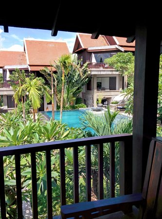 Kiridara Luang Prabang: view of the pool from our room