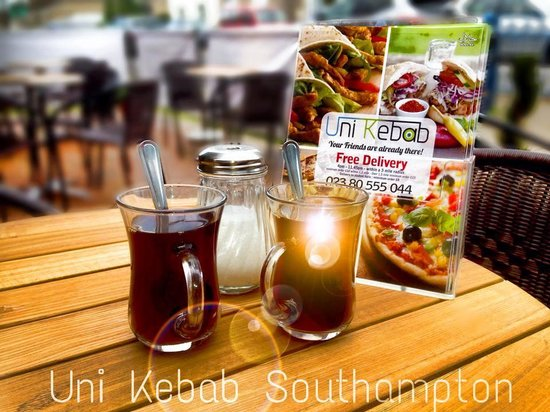 Uni Kebab: Turkish cay ,come sit and relax
