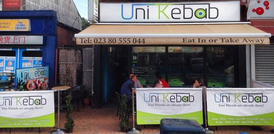 Uni Kebab: Enjoy your lunch in our new outside area
