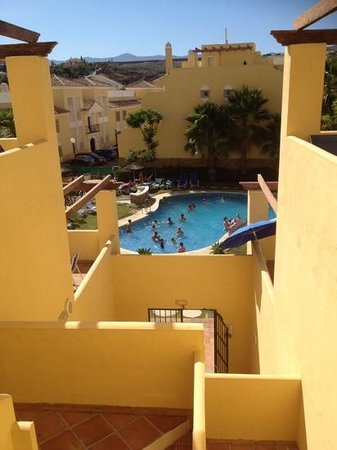 Colina del Paraiso by CheckIN: View from apartment staircase to the middle pool