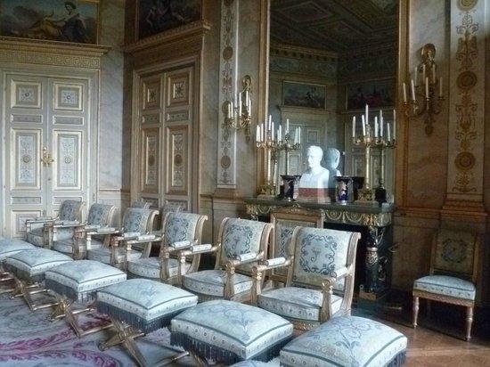 grand salon de r ception tat restitu premier empire obr zek za zen palais de compiegne. Black Bedroom Furniture Sets. Home Design Ideas