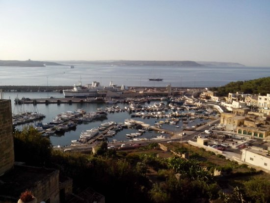 Grand Hotel Gozo: View from Room of the Malta-Gozo Channel