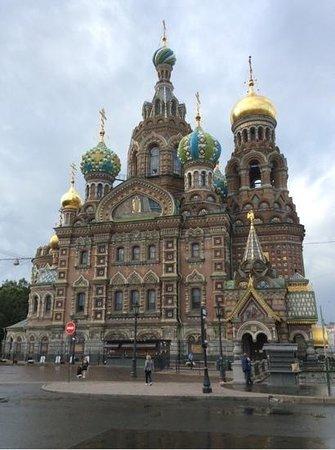 Cathédrale Saint-Sauveur-sur-le-Sang-Versé de Saint-Pétersbourg : Front View