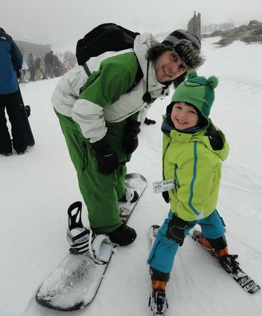 CairnGorm Mountain: My son raring to go after his lessons.
