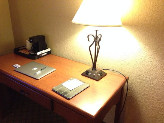 Best Western Plus Mid Nebraska Inn & Suites: Like new work desk and furnishings at the Kearney Best Western. Photo by Terry Hunefeld.