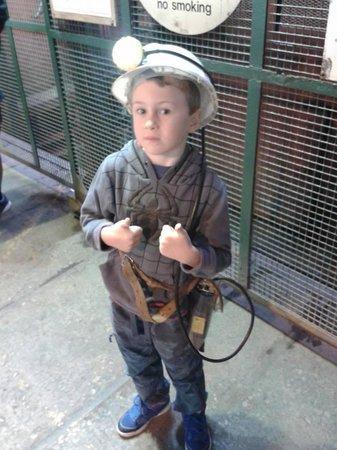 Big Pit:  National Coal Museum: mine tour gear