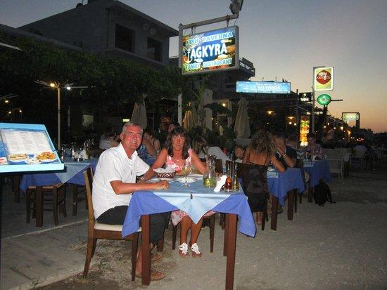 Agkyra Fish Restaurant : Our lovely meal at Agkyra Restaurant Kos Town