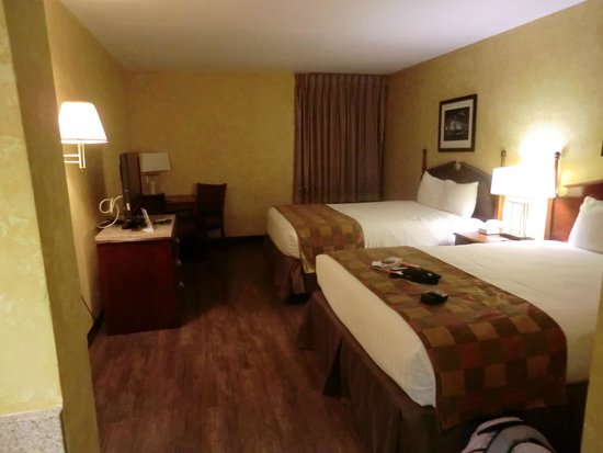 GuestHouse Inn & Suites Nashville/Vanderbilt: 2 nice comfortable beds and the tv area.