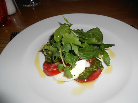 Food at Wharepuke: Caprese Salad starter