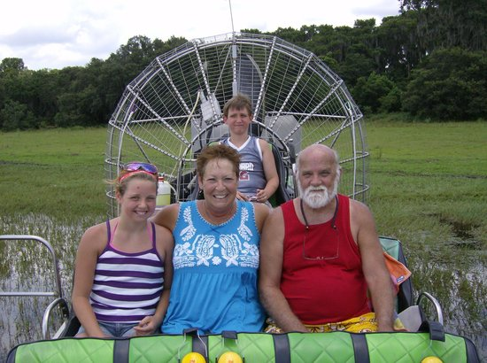 Wild Willy's Airboat Tours: look our my grandson's in the caption seat.