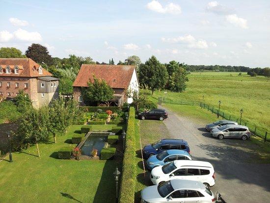 Uitzicht op watermolen Hotel Schepers