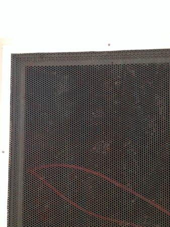 Britannia Hotel - Aberdeen: ventilatierooster, 2 meter boven de ontbijttafel