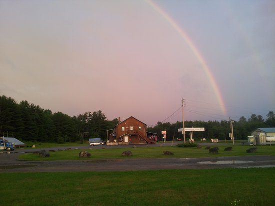 Solon, ME : rainbow over Griswolds
