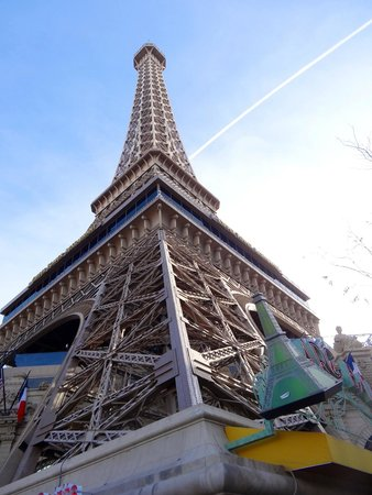 Eiffel Tower Experience at Paris Las Vegas : From the bottom of the Eiffel Tower