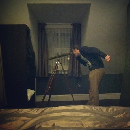 The Angel Hotel: The Telescope in our room