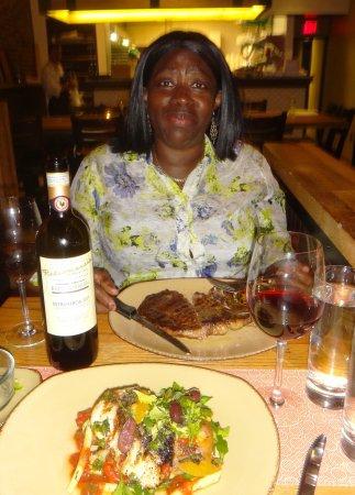 Giulia: Rib Eye Steak and Bass