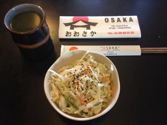 Osaka : Thé vert et salade de chou blanc