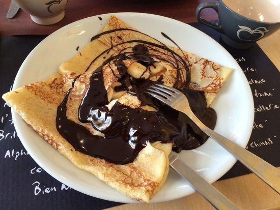 LANN-BIHOUE : Crêpe banane chocolat (chaud)