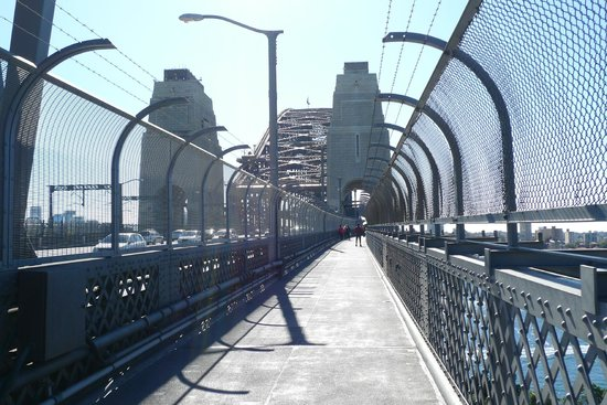 Sydney Harbour Bridge: The pedestrian walkway.
