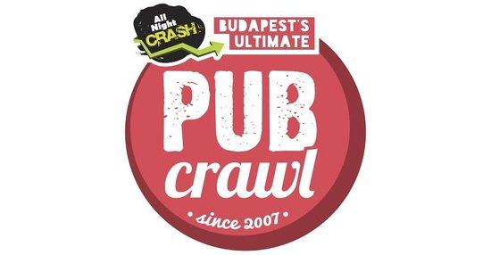 AllNightCrash Pub Crawl Budapest: logo